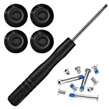4 Pack Rubber Case Feet with Screws Screwdriver Kit Set for...