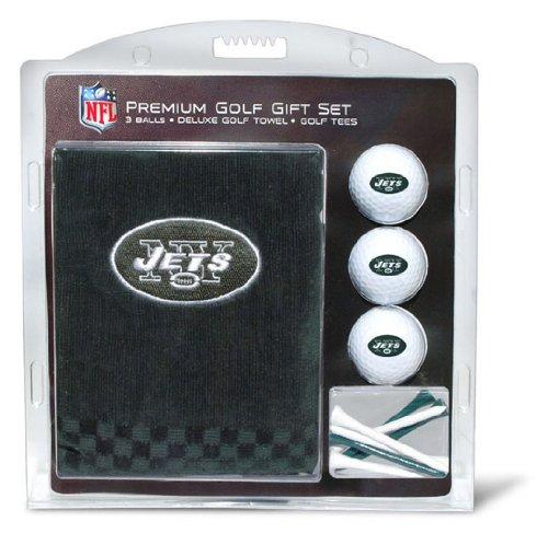 Team Golf NFL Geschenkset, Besticktes Golf-Handtuch, 3 Golfbälle, 14 Golftees, 2-3/4-4-Zoll-Regulierung, dreifach gefaltetes Handtuch, 40,6 x 55,9 cm, 100% Baumwolle, New York Jets, One Size Fits All