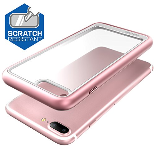 iPhone 8 Plus Hülle, SUPCASE [Unicorn Beetle Style] Schutzhülle Premium Case Cover Hybrid Transparent Handyhülle (Kompatibel mit Apple iPhone 7 Plus / iPhone 8 Plus) (Schwarz) Rosagold