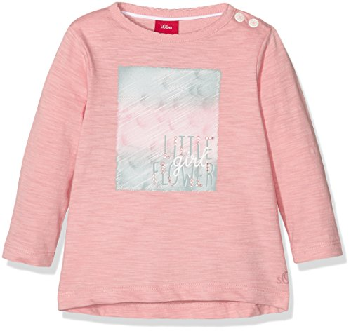 s.Oliver Baby-Mädchen Langarmshirt 65.608.31.5987, Rosa (Light Pink 4273), 92