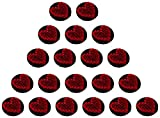 #3: Fabric and Lace Buttons Thread Work Heart shape Black and Red Embroidery Buttons, Pack of 20