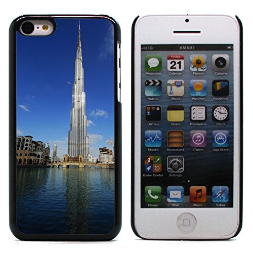 Graphic4You Burj Khalifa Skyscraper Dubai Postkarte Ansichtskarte Design Harte Hülle Case Tasche Schutzhülle für Apple iPhone 5C Design #3