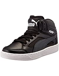 Puma Boy's Basket-Rebound V2 Hi Jr Dp Dark Shadow And Black Sneakers - 2 UK/India (34.5 EU)