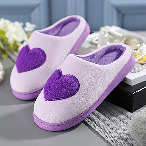 Fankou pantofole donne inverno giovane home piscina casa calda fondo spesso non-slip resistente ai fenomeni di usura gli uomini della casa di cotone felpato pantofole Himmelblau