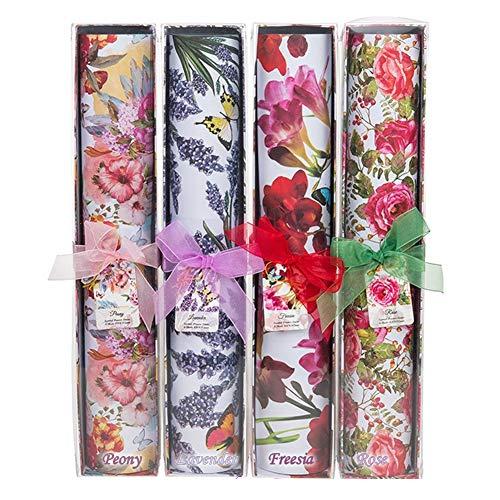 Rivestimenti profumati per cassetti. 6 foglidimensione grande 420 x 585 . Delicatamente profumati con confezione regalo. Peony