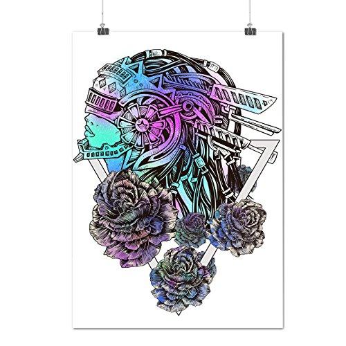 Anzug Mech Kostüm (Mech Stilvoll Rose Mode Blume Modus Mattes/Glänzende Plakat A3 (42cm x 30cm) |)