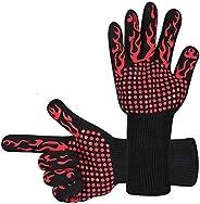 NEXCURIO BBQ Cooking Gloves 1472°F Heat Resistant Glove, Protective Non-Slip Oven Mitt Extreme Heat Resistant