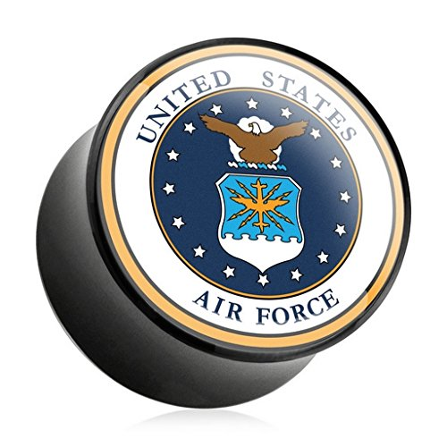 Piercing plug US Air force en acrylique US Air force Taille 8 mm