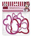 0421, Packung 3 Disney Minnie Mouse Ausstechformen; Kunststoff-Produkt; kostenlos bpa