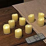 Rhytsing Longlife Flammenlose Teelichter 400h Brenndauer Timer, 9tlg. Fernbedienung und Batterien enthalten
