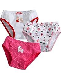 Vaenait baby 86-122 Maedchen Unterhosen 3 Stueck in Einer Packung Unterwaesche Puppy Pink