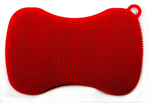 cookline-spill-stopper-swisch-silicone-sponge-cloth-red