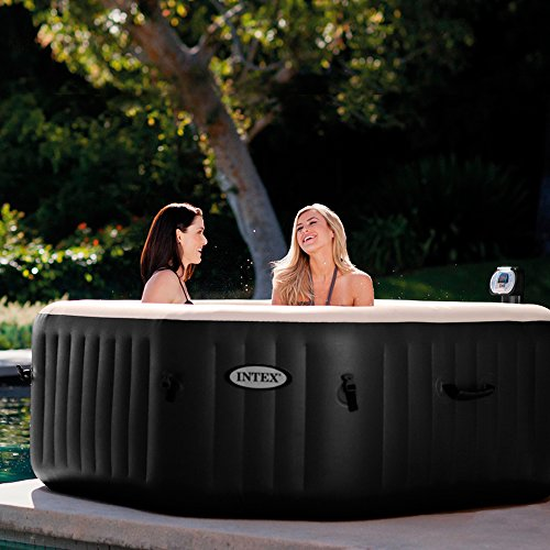 Intex 28454 Pure SPA 79 Zoll Octagon - Bubble, Jet und Salzwassersystem - 3