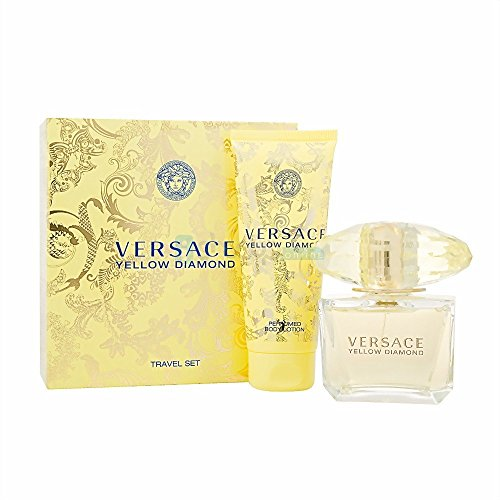 Versace Yellow Diamond Eau De Toilette Spray 90ml Set 2 Parti