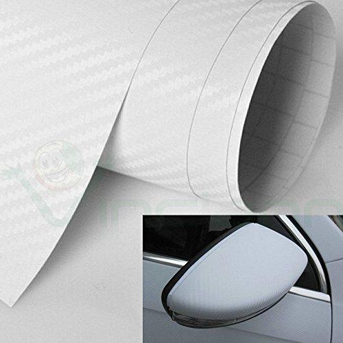 Rotolo pellicola fibra carbonio 3D adesivo NERO moto auto car tuning 10x127cm