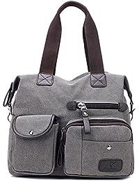 Wewod bolsa de hombro de lona/bolso bandolera de Moda/Carteras de mano para mujeres/Bolsos de Mano de elegante 36 x 39 x 13 cm (L*H*W)