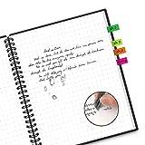 Cuaderno Inteligente Reutilizable Tamaño Carta, de 40 Páginas con Lápiz Borrable use Calor o Tela Húmeda para Borrar Almacenamiento en la Nube A4 (210mm * 297mm)