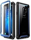 i-Blason Cover Samsung S9 Plus, Custodia Rigida Trasparente Bumper con Protezione Dello Schermo Integrata Ares per Samsung Galaxy S9 Plus 2018, Nero / Blu