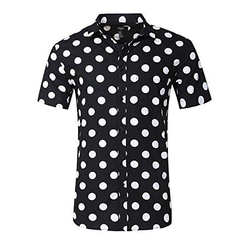 Nutexrol Herren Hemd Slim-Fit Bügelleicht – für Freizeit, Anzug, Business, Hochzeit – Kurzarm Hemden für Männer (Button-down-hemd, Anzug)
