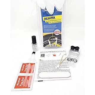 ATG ALU-FIX Alloy Wheel Repair Kit - Special Filler for Alloy Wheels & Steel Wheels to Fix Surface Damage - including Silver Aluminium Metallic Paint Pen - DIY Smart Repair - 13 pieces