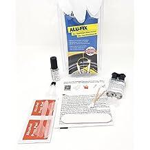 Raid hp Aluminiumfelgen Alufelgen Reparatur Kit Set Lackstift Schwarz glänzend