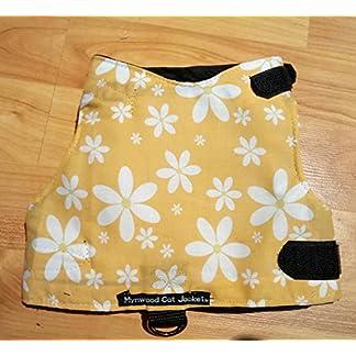 mynwood cat jacket/harness orange flowers adult cat - escape proof Mynwood Cat Jacket/Harness Orange Flowers Adult Cat – Escape Proof 510GFFIXtoL
