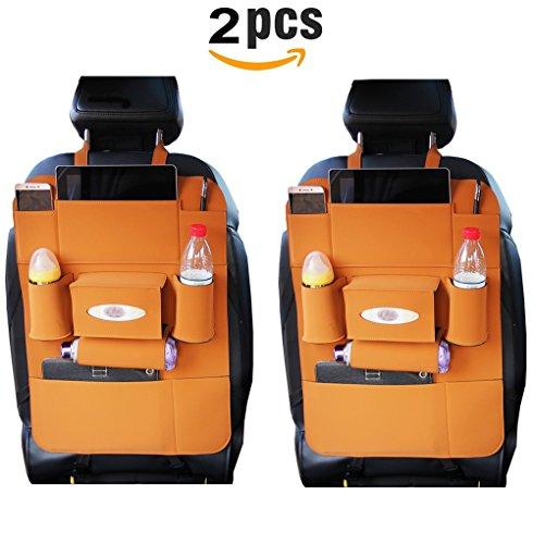 Preisvergleich Produktbild 2Auto Organizer Kick-Teppiche, easmatm PU-Leder Wasserdicht Sitz Rückseite Displayschutzfolien