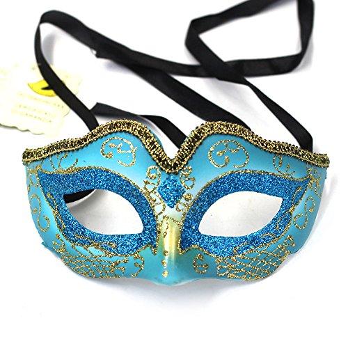 Lenhart Venezianische Maske, Coxeer Prinzessin Dance Maske Metall Schmetterling Maske für Halloween Masquerade Maske für Halloween, (Schmetterling Masquerade Maske)