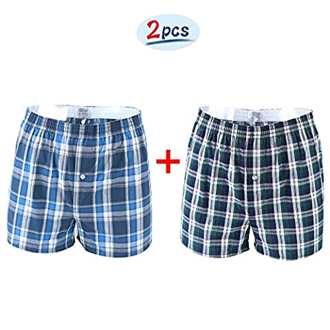 Imixcity Lot de 2 Homme Bas de Pyjama Short À