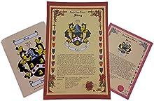 Foscarini escudo de armas, Escudo del familia y nombre historia-tres impresión Combo-Italia origen