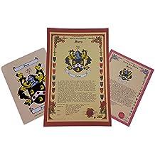 Simonds escudo de armas, Escudo del familia y nombre historia–tres impresión Combo–Inglaterra origen