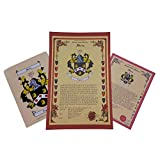 Oxendale Coat of Arms, Family Crest and Name History - Three Print Combo - England Origin
