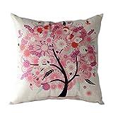 Longra Kissenbezug Sofa Taille Wurfkissenbezug Hauptdekoration Blumen Baum