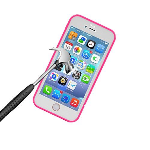 iPhone 6s Étanche Coque,Étui Imperméable, Étui Antipoussière,Anti Neige, Antichoc,360 Scellé De Protection Robuste pour Apple iPhone 6s / 6 rouge