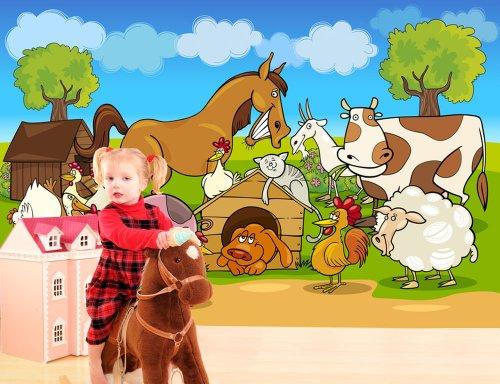 foto-sfondo-murale-pazzo-farm-animals-disegno-anime-size-400x270cm-decorazione-della-parete