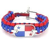 WEI Armband World Cup Nationalmannschaft Logo Dekorative handgewebte Armbänder Fan Geschenke,Panama,Einheitsgröße