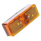 Otto-Harvest 2er Set Seitenmarkierung Leuchte Begrenzungleuchten Orange Gelb Markierung W5W T10 Anhänger Kasten Transporter LKW 12V 24V
