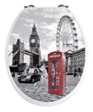 Acquista WENKO 20073100 Seduta WC Londra con effetto 3D - chiusura ammortizzata, armatura inossidable, Etilene vinil acetato, 38 x 45 cm, Multicolore