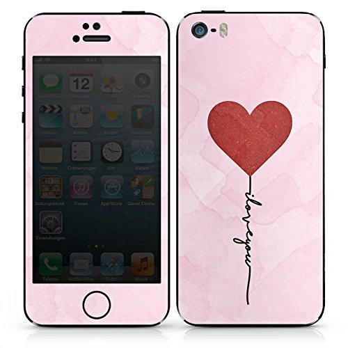 Apple iPhone SE Case Skin Sticker aus Vinyl-Folie Aufkleber Love Sprüche I love you Muster DesignSkins® glänzend