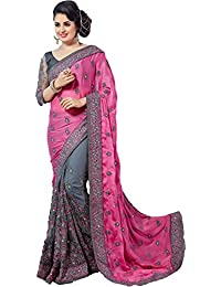Jesti Designer Women's Georgette &Net Saree For Women New Collection 2018 With Blouse Piece (MS# Sarees # Sarees...