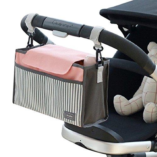 Foto de Bolso de almacenamiento del organizador del carro del bebé, Sunbeter bolso de almacenaje colgante del carro multifuncional Bolso de pañal impermeable del Portable - buen ayudante de la madre