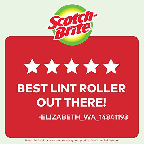 Scotch-Brite Lint Roller, 95 Sheets, 5 Count