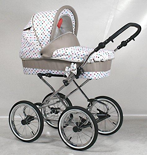 Wunderschöner Retro Kinderwagen Babywagen 3in1 (103)