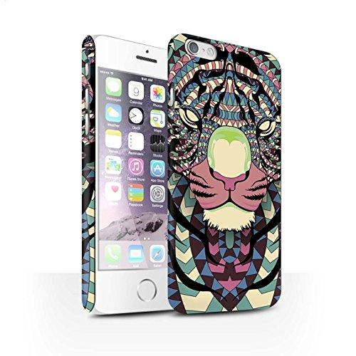 Clipser Matte Coque de Stuff4 / Coque pour Apple iPhone 7 Plus / Loup-Pourpre Design / Motif Animaux Aztec Collection Tigre-Couleur