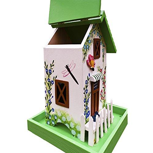 Vogelhäuschen, modern, grün - 3