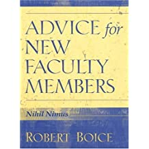 Advice for New Faculty Members: HB NEW FACULTY MEMBERS _c1: Nihil Nimus