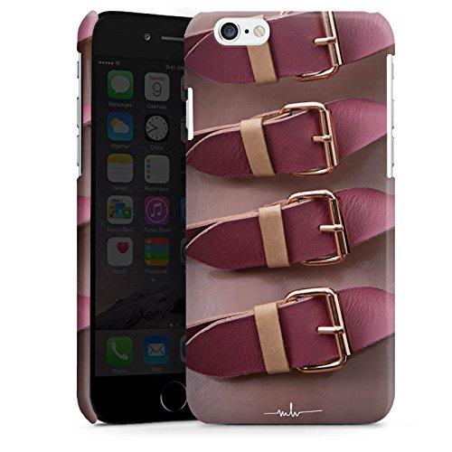 Apple iPhone 5s Housse Étui Protection Coque Boucles rouges Mode Structure en cuir Cas Premium brillant