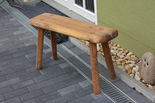 Holzbank massiv Eichenholz, handgefertigt, rustikal