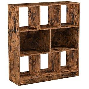 VASAGLE Bücherregal, Standregal aus Holz mit offenen Fächern, Vitrine für Wohnzimmer, Schlafzimmer, Kinderzimmer und…