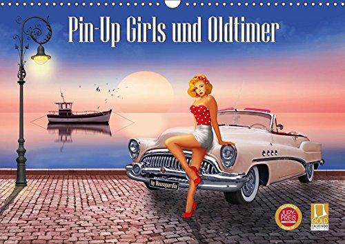 Pin-Up Girls und Oldtimer by Mausopardia (Wandkalender 2019 DIN A3 quer): Sexy Pin-Up Girls und kultige Oldtimer im Retro Style der 60er Jahre. (Monatskalender, 14 Seiten ) (CALVENDO Menschen)